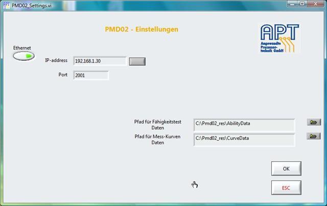 Analysis software for APT testing